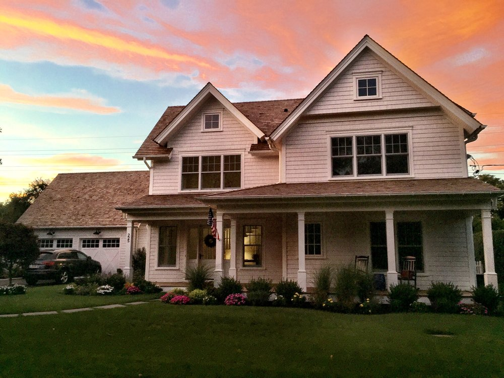 The sunset was so beautiful, we had to capture the moment. 225 West Prospect in Southampton, NY on a lovely Sunday evening.