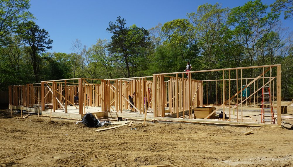 The start of a new single family residence +/- 6,000 square feet located in Watermill, NY. Our team is excited to see the progress on this east end home.