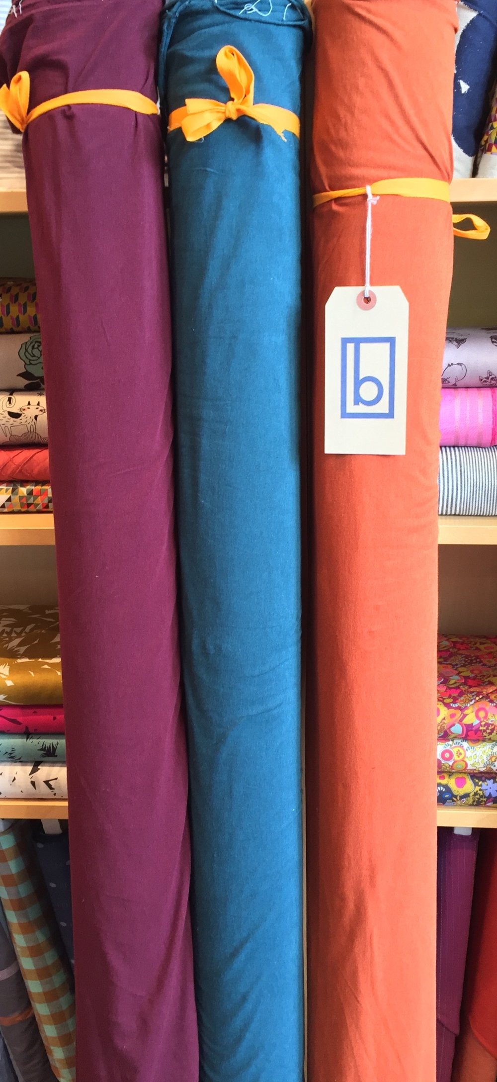 Bamboo, organic cotton and spandex