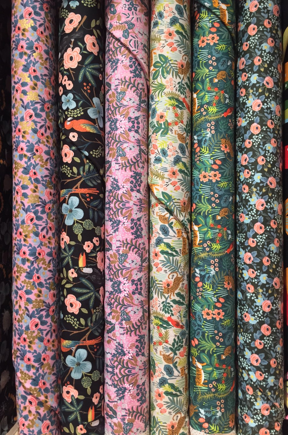 Rifle Paper Co's quilting weight cotton prints for Cotton + Steel.
