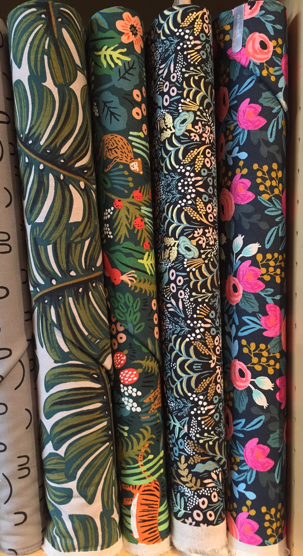 Rifle Paper Co's cotton/ linen blend canvas for Cotton + Steel.