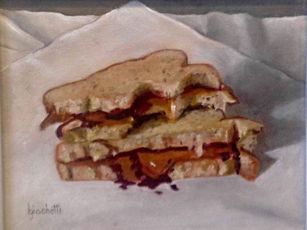 "Beth Giachetti ""PB&J"" Framed Painting-$275, Giclee-$75"