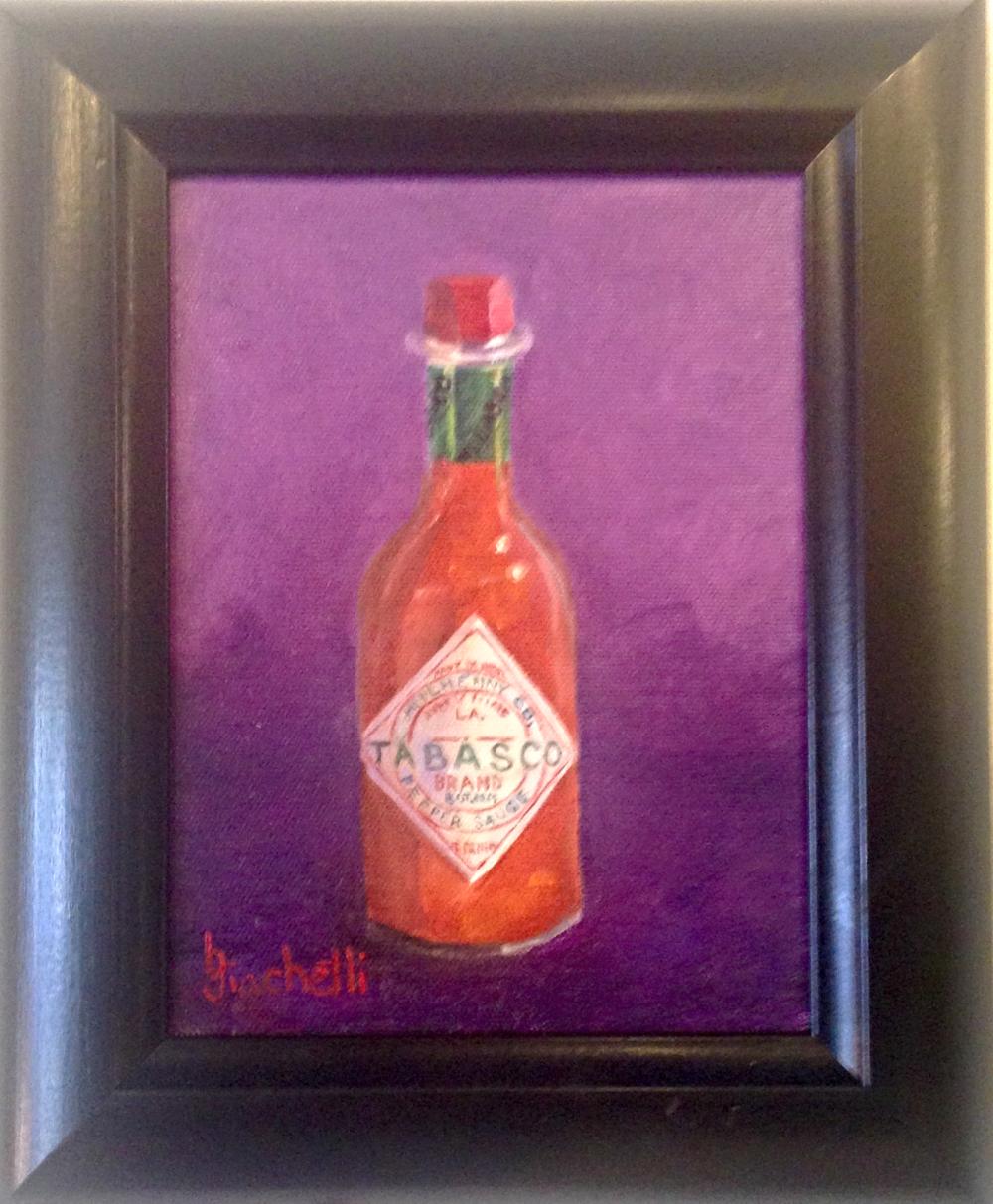 "Beth Giachetti ""Tabasco"" Framed Painting-$175"