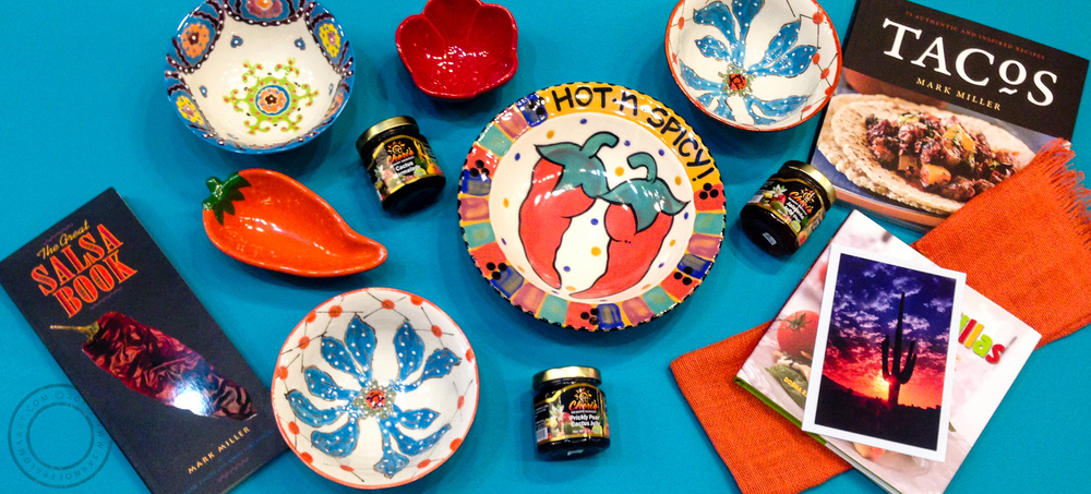 A collection of southwestern style gifts at the gallery