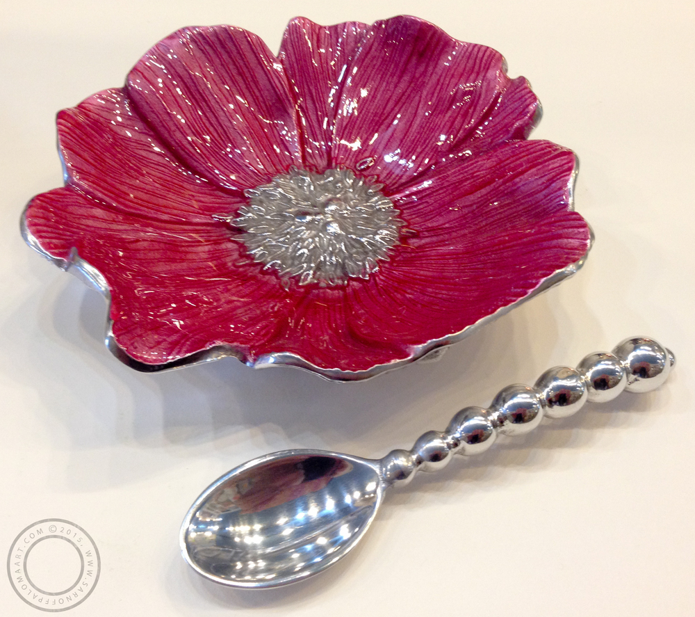 Mariposa flower dish-$44, sliver spoon- $15