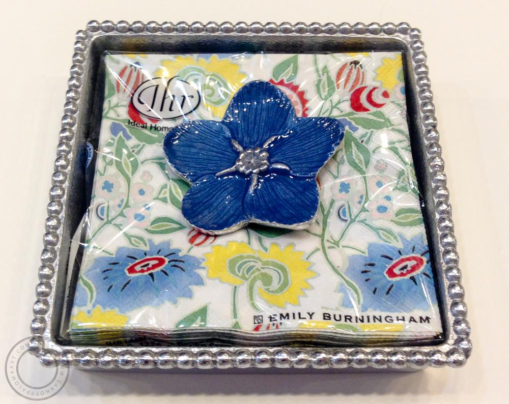 Mariposa silver napkin tray-$48