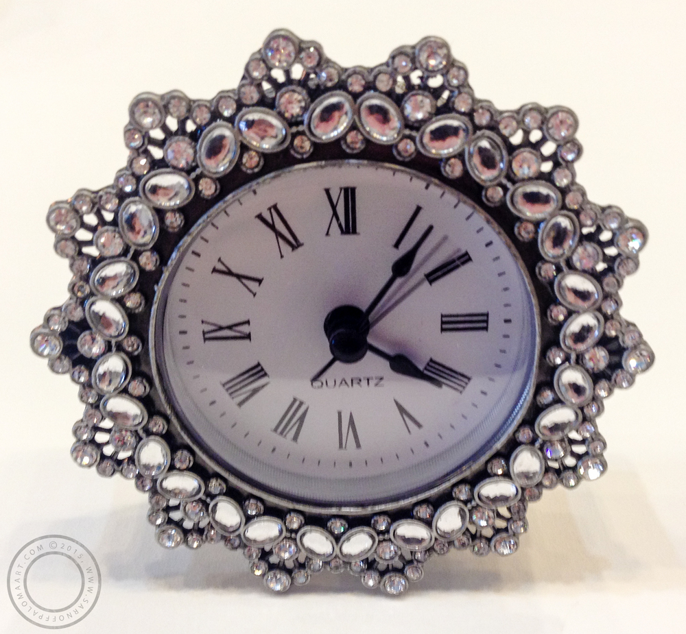 S Designs sparkling clock-$30