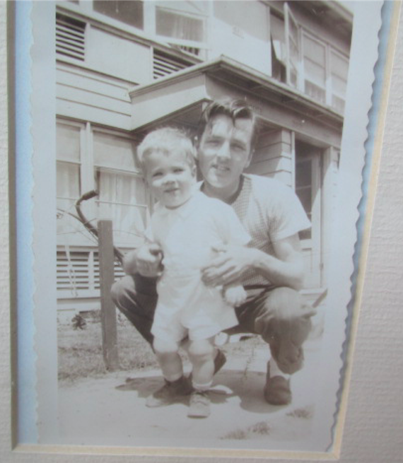 Scott and his father in Vanport, around 1946.