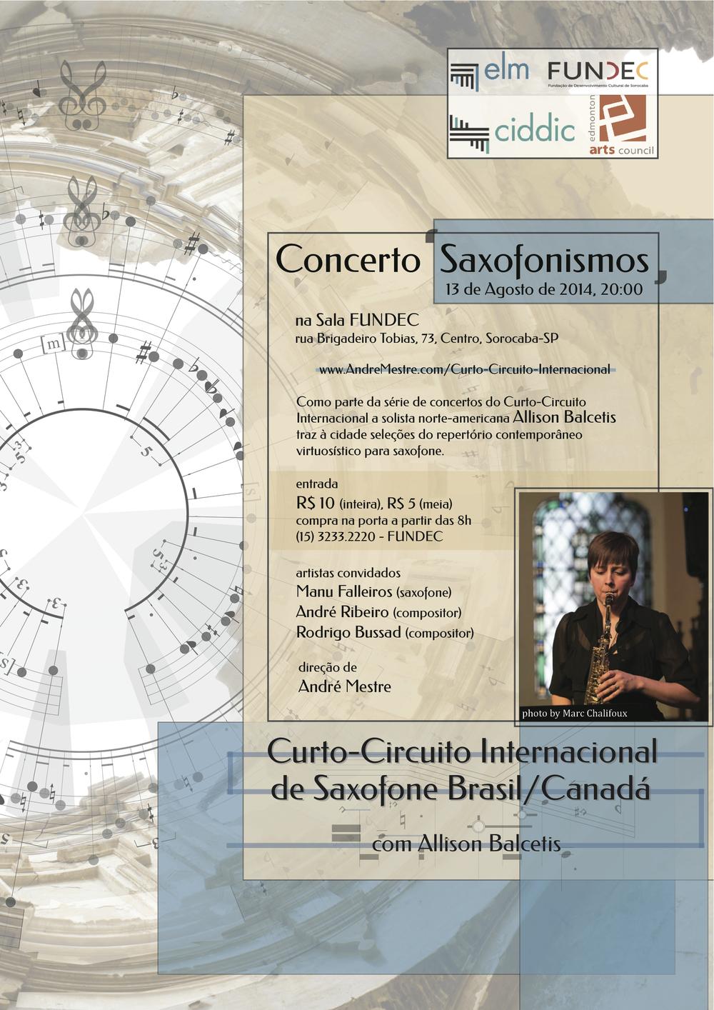 Poster - Concerto 'Saxofonismos'