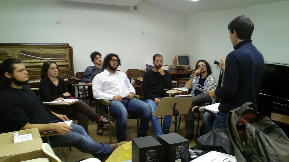 Reunião com os compositores da UNICAMP