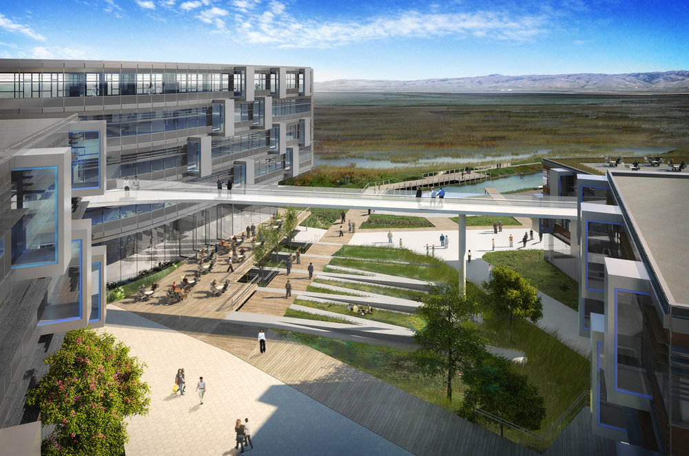 Google Global Campus Master Plan. Mountain View, CA    Image Credit: NBBJ