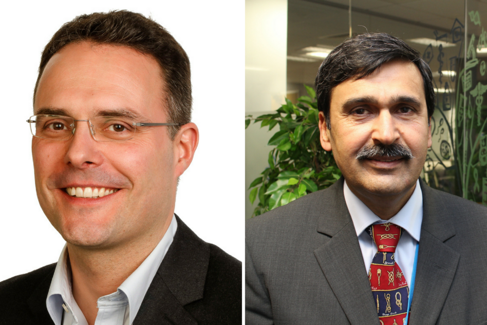 Christoph Theopold, left, and, right, Muhammed Riaz