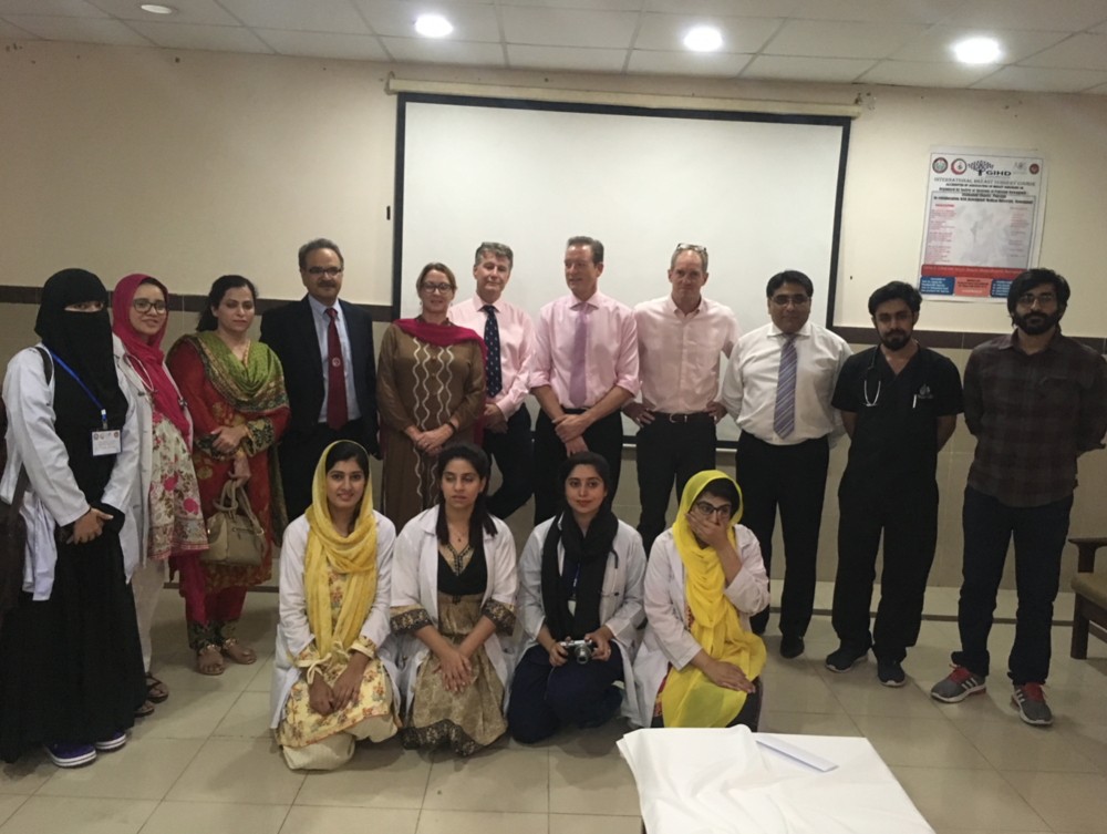 Prof Naeem Zia and his team with the faculty