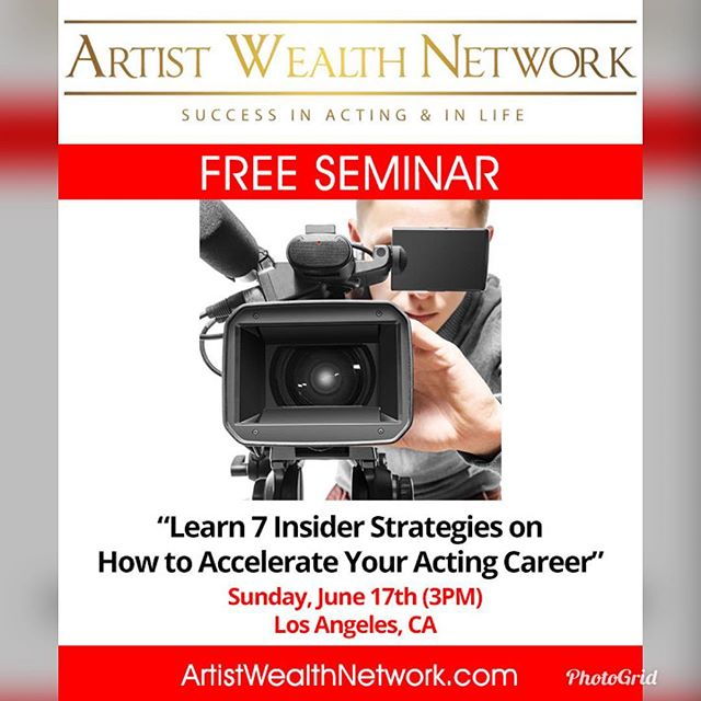 It's FREE! Gain vital insights to boost your performing career. RSVP info at http://preview.mailerlite.com/h9x3r5 #actorlife #freeforactors #gonetwork #hollywood