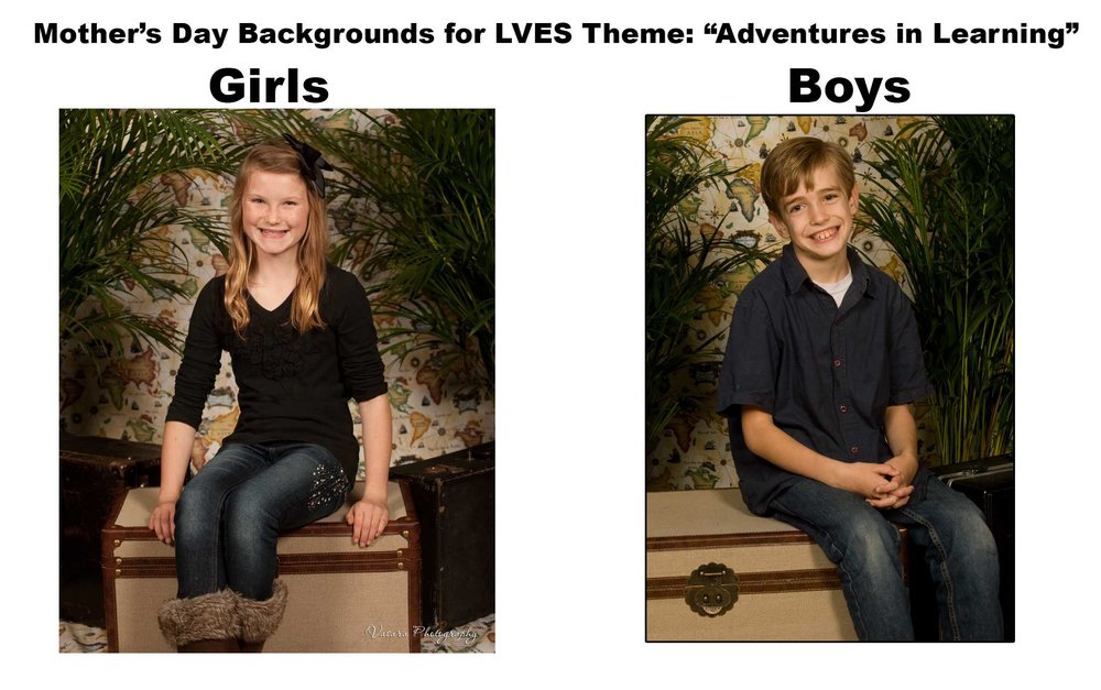 Here are the background for LVES Mother's Day Picture Day.