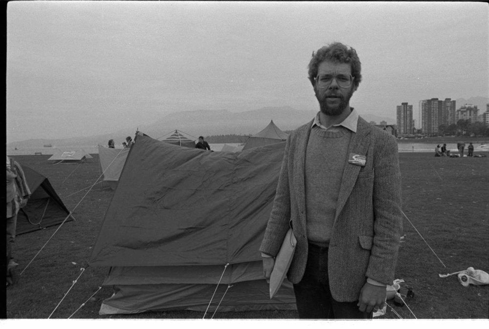 Tenants tent-in at Vanier Park, 1983