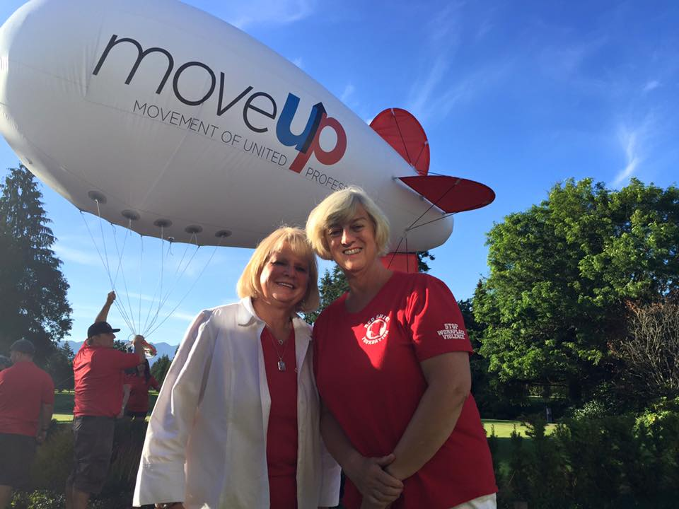 The Red Shirt Foundation's Marlene Lunn and Jane Lindstrom at MoveUP's 2nd Annual Bob Derby Charity Golf Tournament.