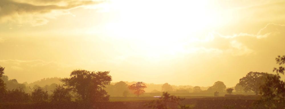 Sun and evening rain
