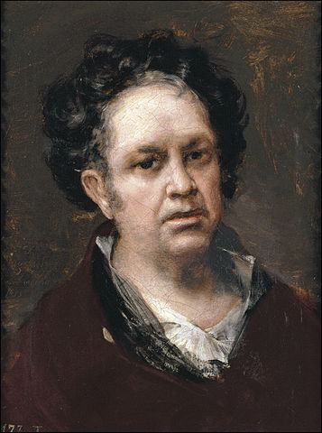 """Self-portrait"". Goya, 1815."