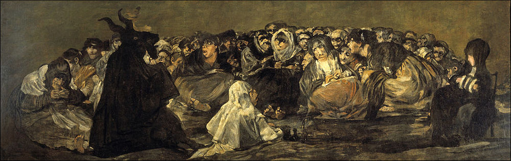 """Witches' Sabbath"". Goya, 1819-23."