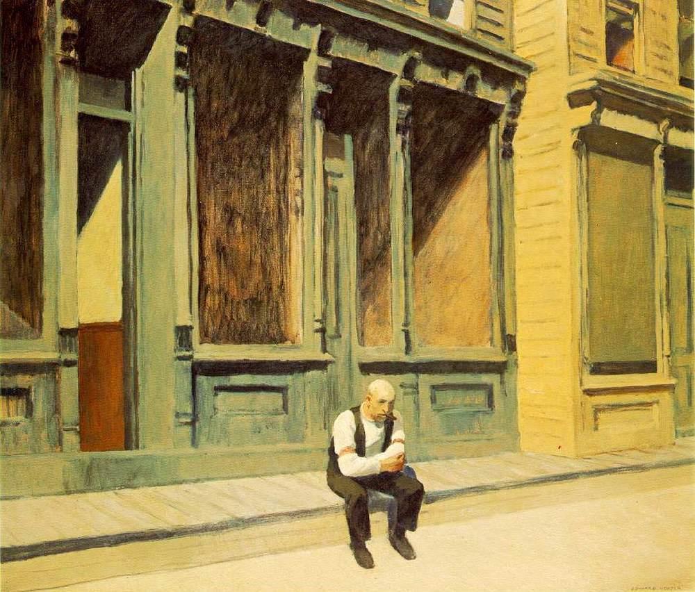 """""""Sunday"""". Edward Hopper, 1926."""