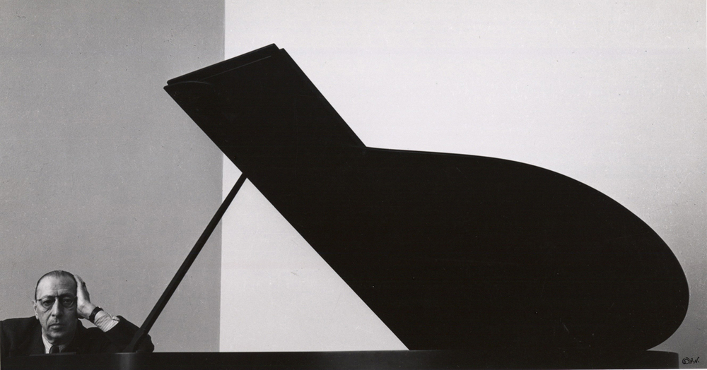 Igor Stravinsky. Photo by Arnold Newman. 1946, New York.