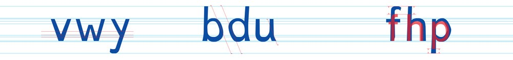 Dyslexie: Variações e tamanho maior.