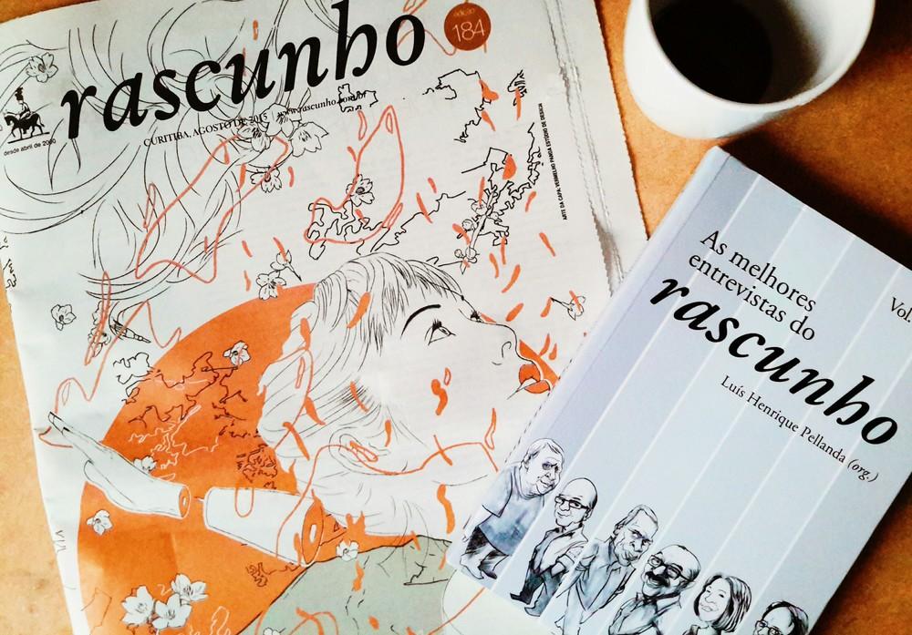 Jornal Rascunho e livro de entrevistas.