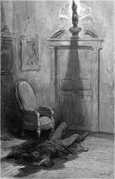 O Corvo ilustrado por Gustav Doré.