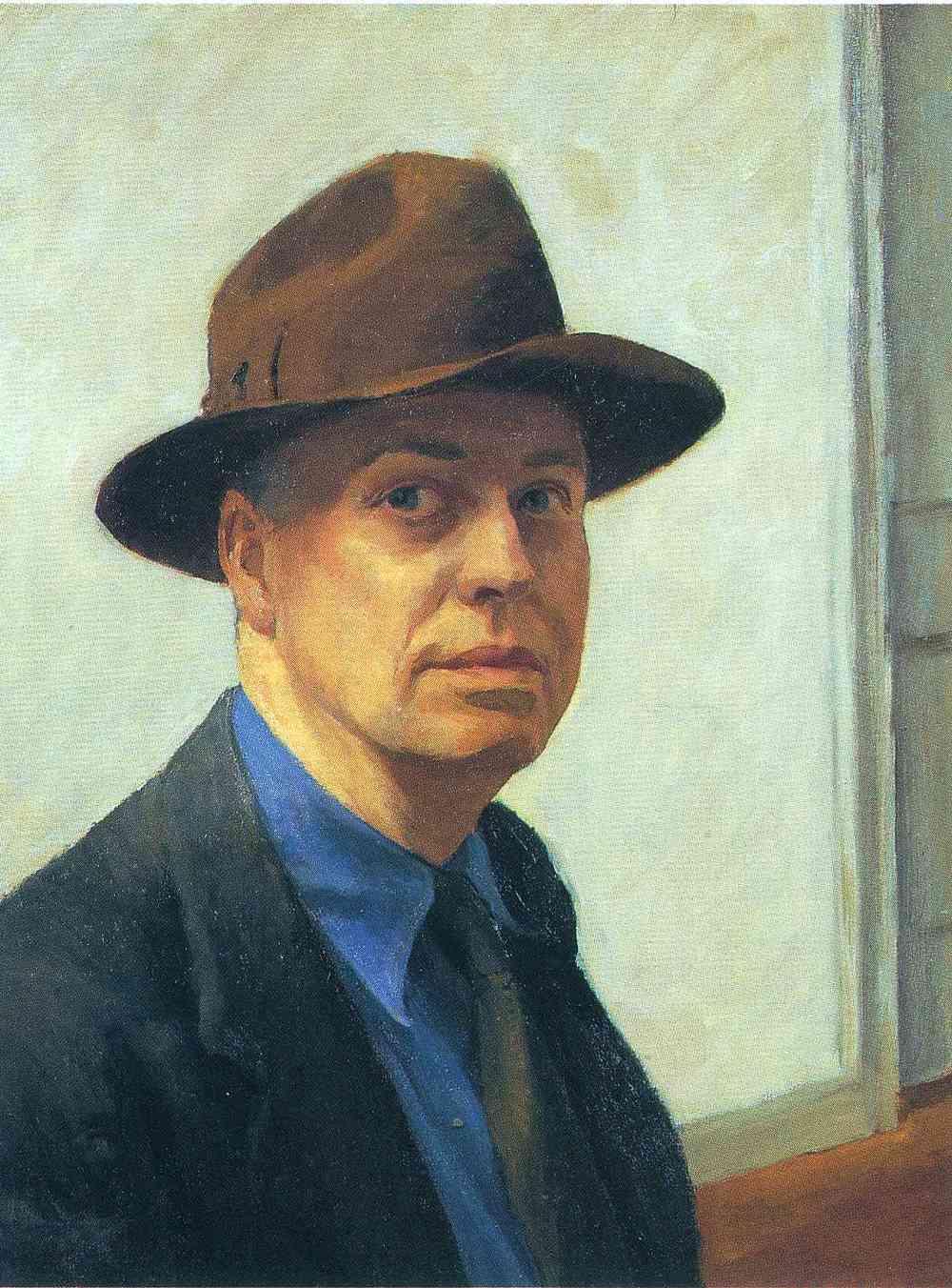 Autorretrato. Edward Hopper, 1930. Óleo sobre tela.
