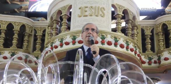 Eduardo Cunha em culto no templo Vitória em Cristo.