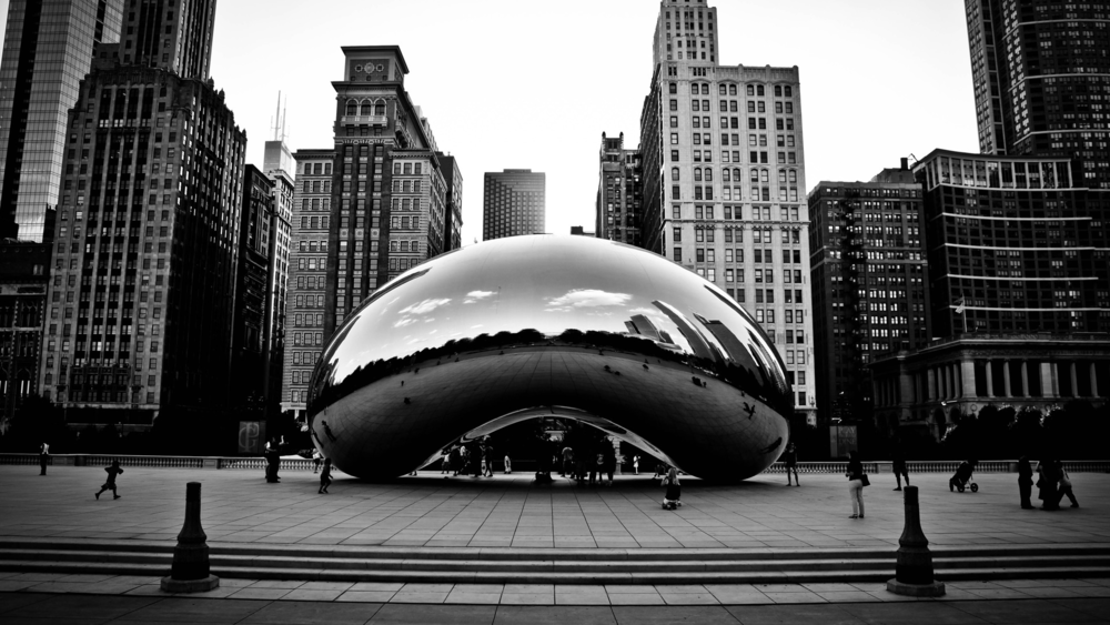 Cloud Gate by Anish Kapoor.