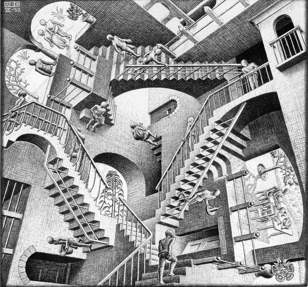 M. C. Escher - Relatividade.