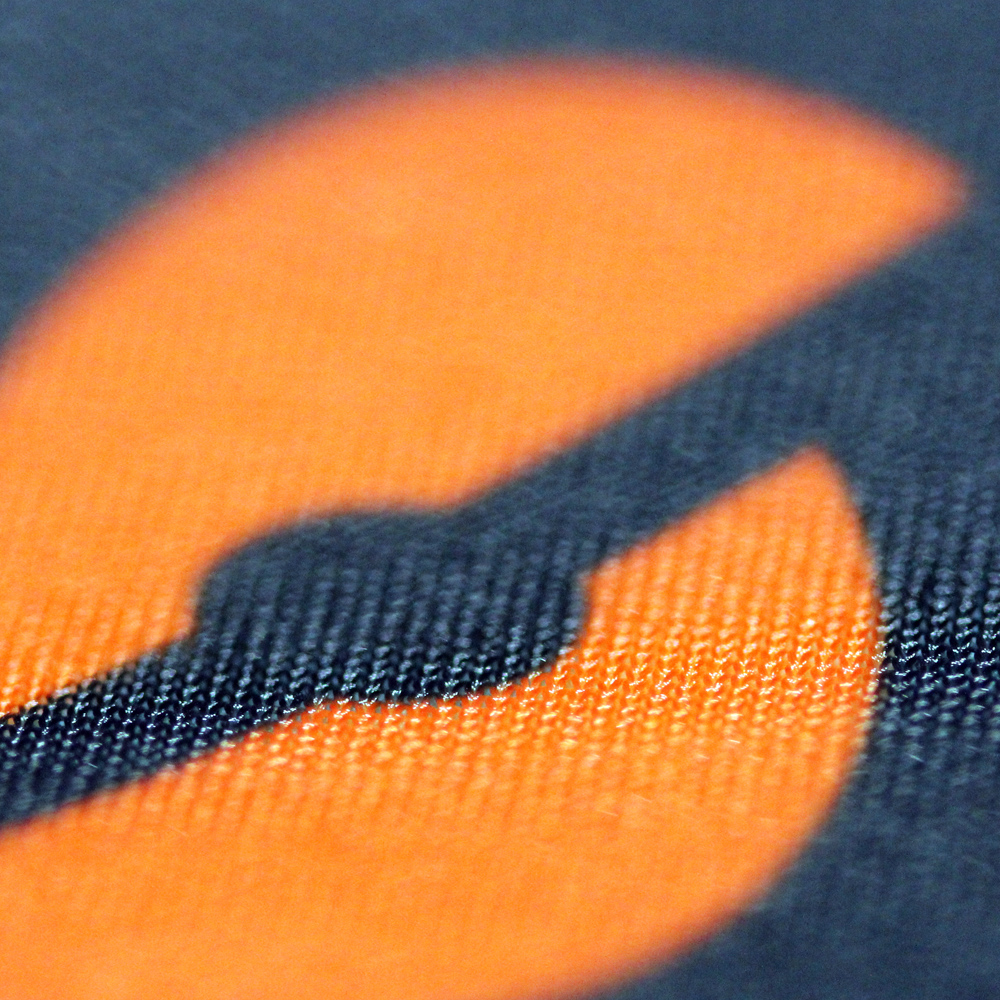 Close up of SOLIDshot icon on a sleeve