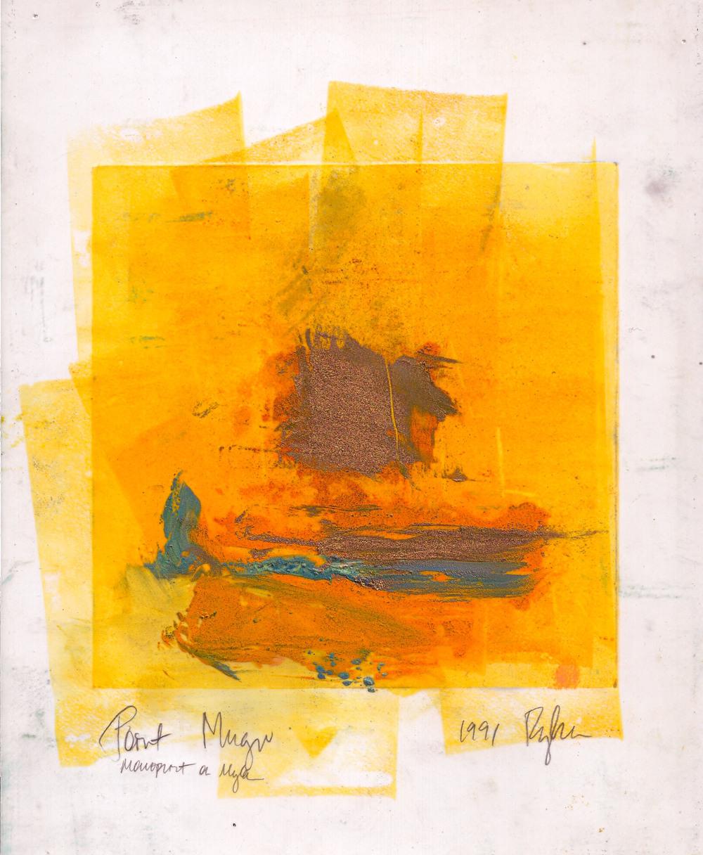 """Point Mugu"" monoprint, 1990"
