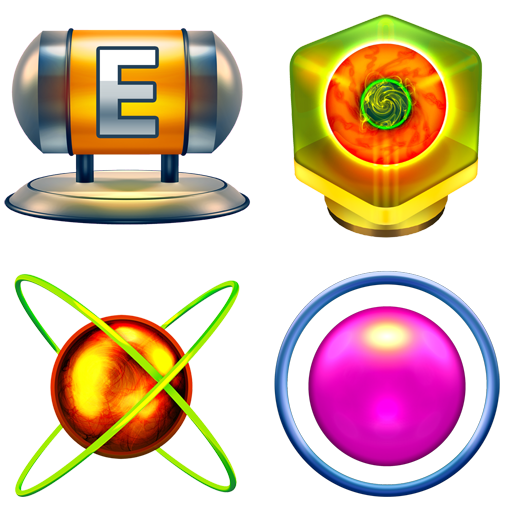 Metroid Icons Vol. 1: Energy Tank, Bomb, Varia Suit, and Morph Ball.
