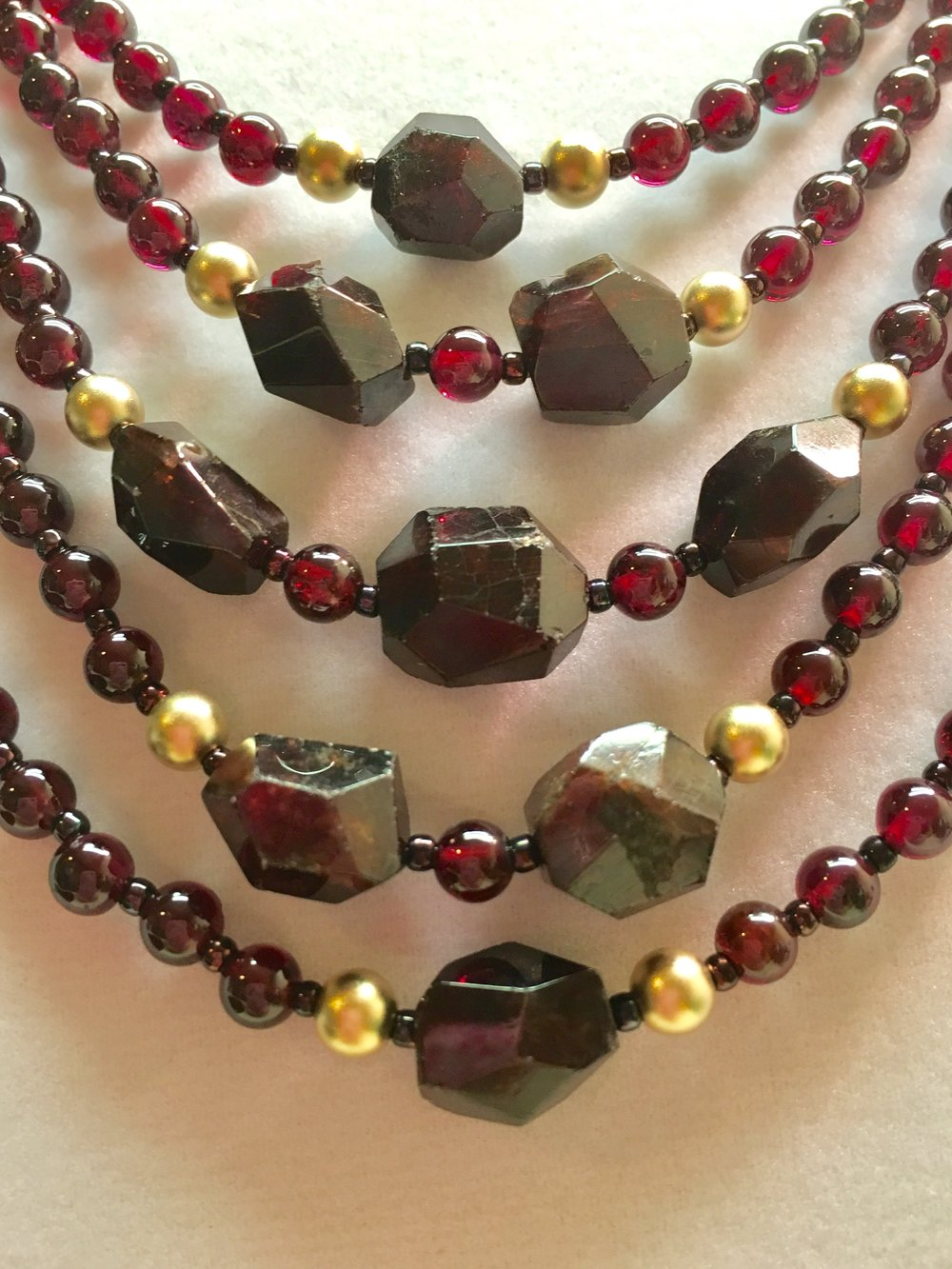 garnet NECKLACE (SOLD)  Detailed description TBA