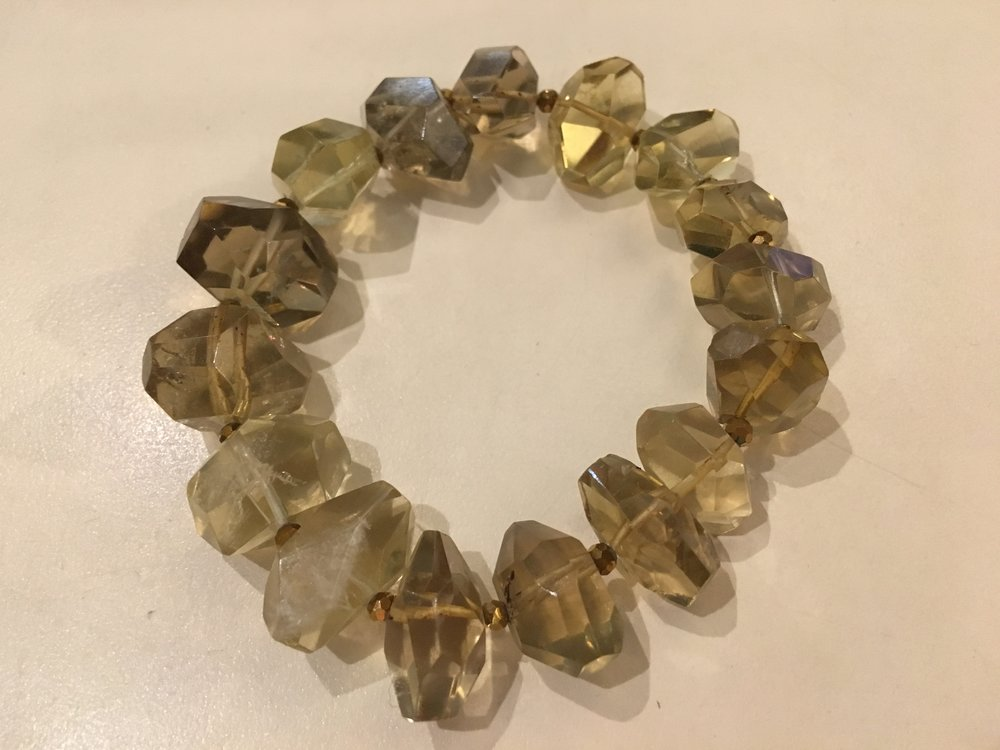 cognac quartz bracelet  $100
