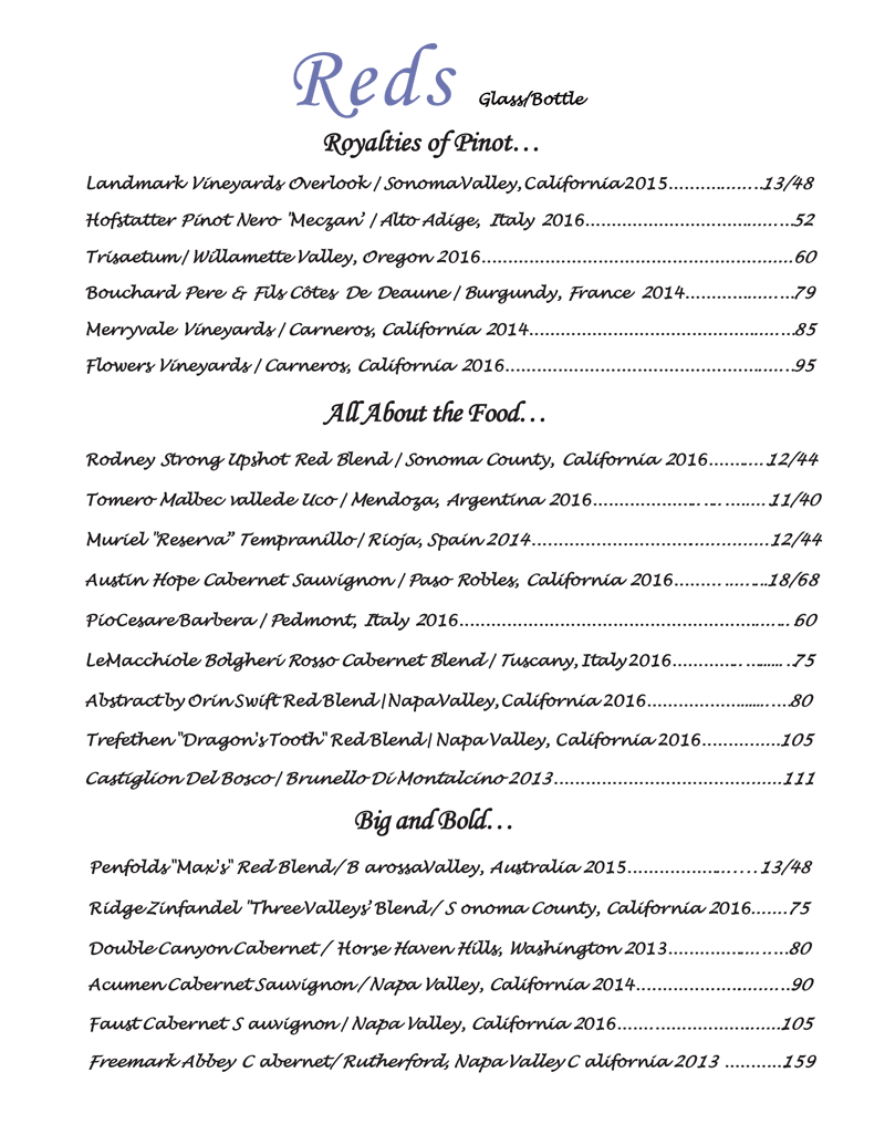 Download our Wine List