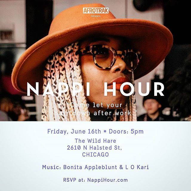 Come out to Nappi Hour tonight at the Wild Hare. Ya boy L O Kari will be mixing the Tunes with the amazing @bonitaappleblunt_ . Come let your hair down after work and groove to the sounds of Afro Beat, and Reggae with a hip hop twist. Doors open at 5 tickets are sold at the door or on NappiHour.com  #nappihour. #bonitaappleblunt. #afrotrak. #LOKari