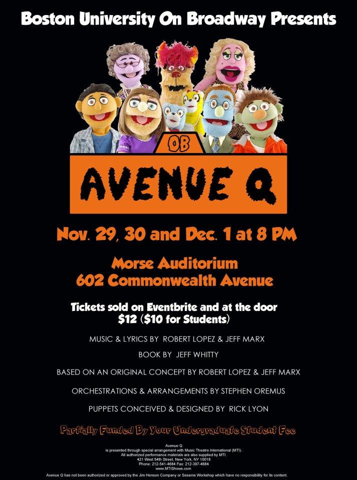 """Avenue Q"" Fall 2012"