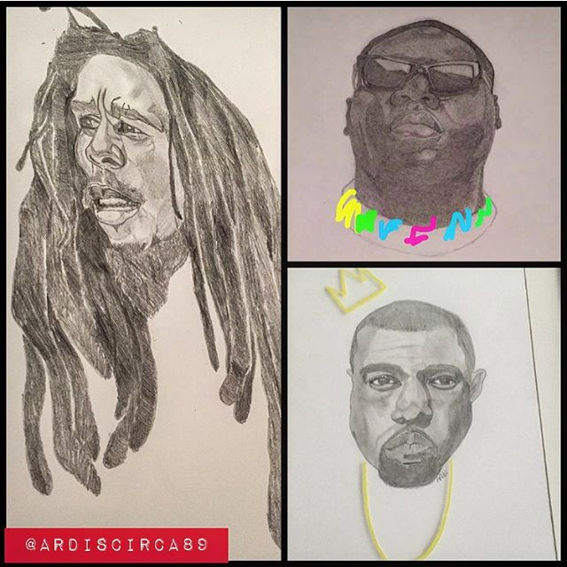 ShoutOut to the good folks at @lot_xi COME OUT TO #THELOVEFEST THIS WEEKEND SEPT. 4th! My twin sister @dreadid will be showcasing her art and it's for sale! #bigpoppa #biggie #kanyewest #bobmarley #coogisweater #art #fashion #music #artists #lotxi