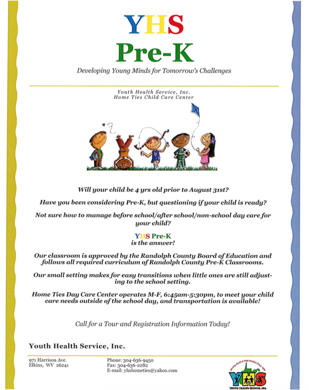 Click for info on Pre-K Enrollment
