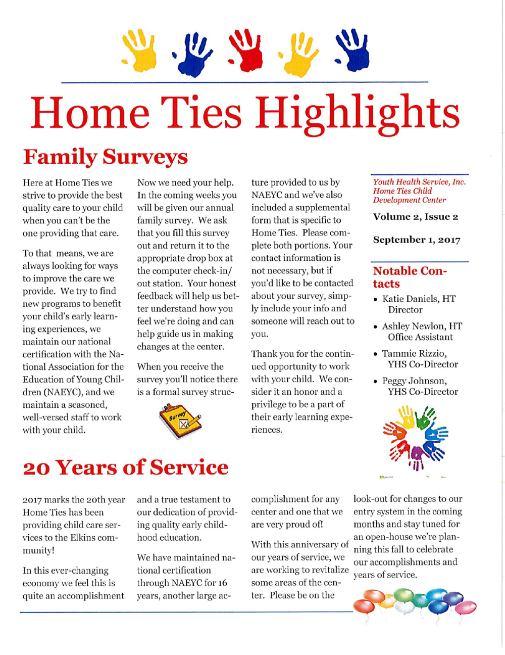 DOWNLOAD OUR HIGHLIGHTS NEWSLETTER