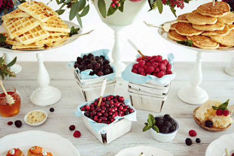 Waffle & Pancake Bar via Weddings in Winnepeg