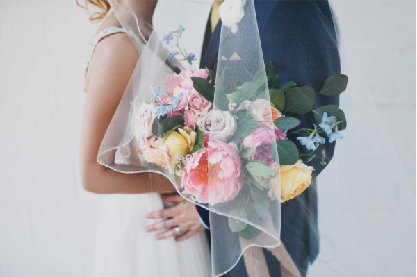 Our florals for Taylor + Collin photographed by  Morgan Chidsey
