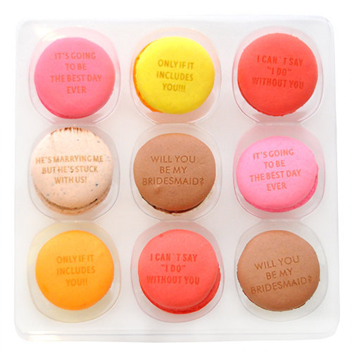 Photo | Stamped Macarons from Etsy