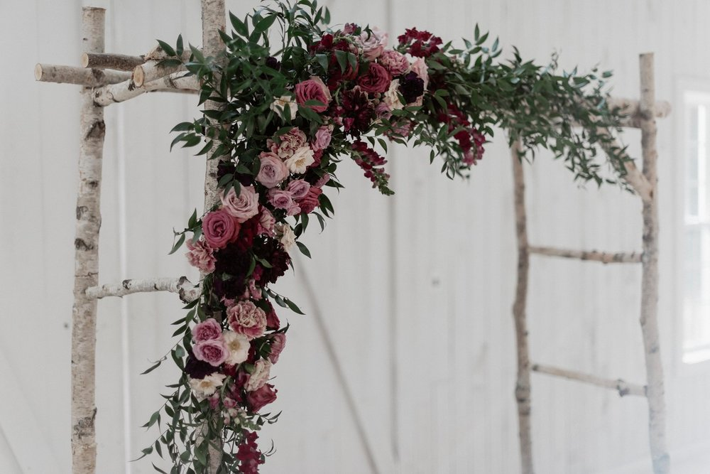 garden floral + trailing greenery | $350+