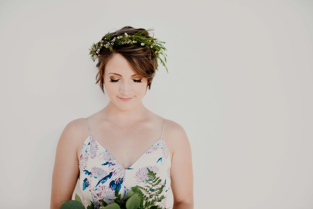 super simple, greenery + petite blooms only | $25