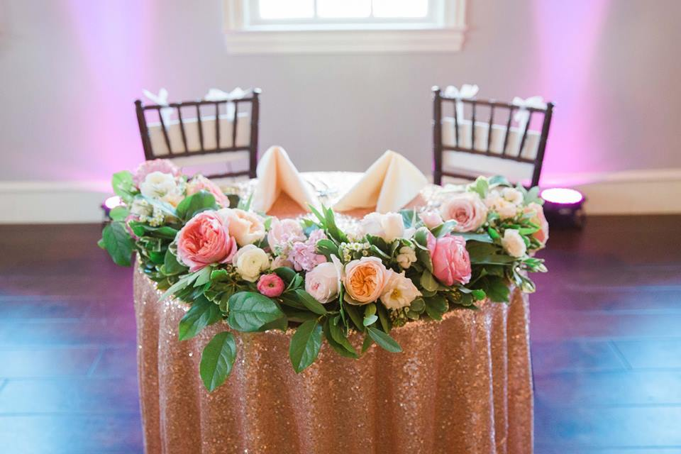 full floral garland + votives | $200+